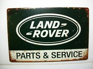 Land Rover Parts-Service Blechschild Klassik Retro Emblem 30x20 cm