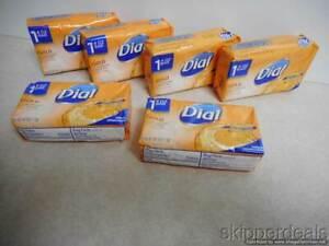 6 DIAL ANTIBACTERIAL DEODORANT BAR GOLD SOAP 6-4oz BRAND NEW
