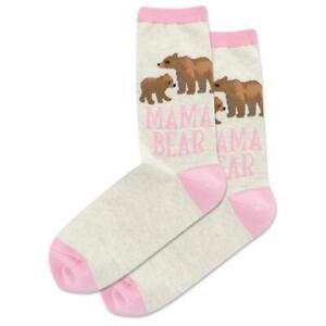 Mama Bear Hot Sox Women's Crew Socks Natural ML New Novelty Outdoors Fashion