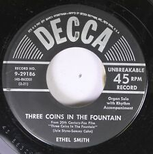 50'S & 60'S 45 Ethel Smith - Three Coins In The Fountain / Hernando'S Highway On