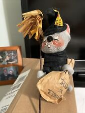 Annalee Doll Trick or Treat Witch Mouse 7in 1971 Halloween decor