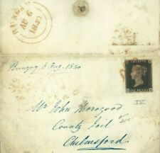GB PRISONS 1d BLACK Plate IV Cover Essex CHELMSFORD JAIL Bungay 1840 Suffolk761e