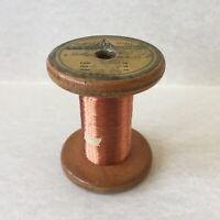 Vintage Collectible Standel's Copper Wire Wooden Spool ELKA Zagreb Ex Yugoslavia