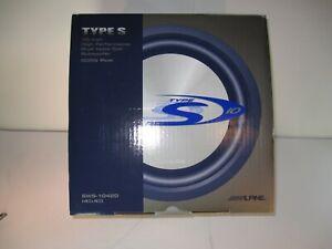 NEW Old School Alpine TYPE S SWS-1042D Dual Voice Coil Subwoofer 4 ohms 900 Watt