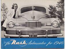 Nash Ambassador brochure Prospekt, 1946