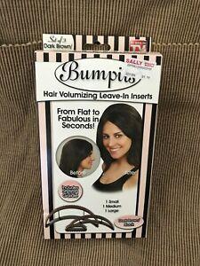 New Women's Bumpits Big Happie Hair Voluminizing Insert set of 3 Dark Brown
