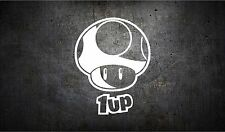 1up mushroom 5'' vinyl car sticker decal l buy 1 get 1 free