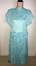 Authentic 80's Vintage Peplum Dress
