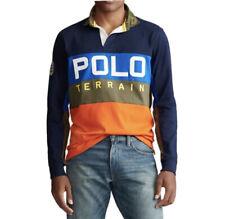 Polo Ralph Lauren L/S Terrain Camo Patch Rugby Shirt Colorblock Men's Sz  XL