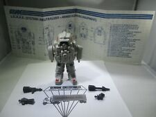 GI Joe Cobra S.N.A.K.E. White Battle Armor+Blueprints+Accessories Complete 1985