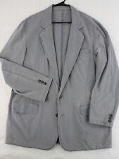 LL BEAN Safari Outdoor Guide Gray Utility Sport Coat Blazer Jacket Men's 46 Tall