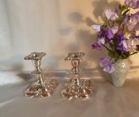Georgian Sheffield Plate & Copper Embossed Candlesticks-Early 19th Century