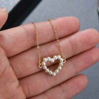 Pearl Heart Crosses Shell Conch Pendant Necklaces Chain Choker Women Jewelry Hot
