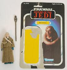 Vintage Kenner Star Wars Bib Fortuna figure with ROTJ backer card Complete