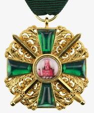 Baden Orden dal Zähringer LEONE con spada in Oro Medaglia Distintivo wk1 ww1