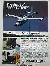 1980-81 PUB RINALDO PIAGGIO 166 DL 3 AIRCRAFT CARGO AVION ORIGINAL AD