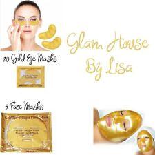 5 Gold Collagen Face Masks - 20 Gold Eye Masks
