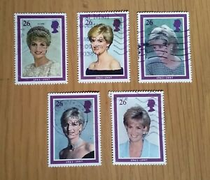 Complete GB used stamp set: 1998 Diana, Princess of Wales Commemoration