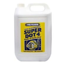 BRAKE & CLUTCH FLUID DOT 4 - 5 LITRES Superior Quality POLYGARD