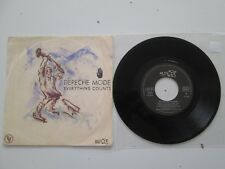 """DEPECHE MODE everything counts 7"""" FRENCH STAMPED PROMO REF VG108 101802"""