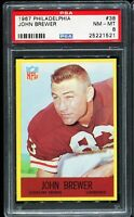 1967 Philadelphia #38 JOHN BREWER Cleveland Browns PSA 8 NM-MT