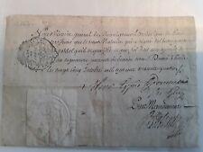 Doc 1764/certificat Mgr Archevêque de Paris/Malouin