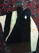 Women's BLACK BICICI BY CARABELLA STRAPLESS EVENING GOWN/DRESS WITH SHAWL SIZE S