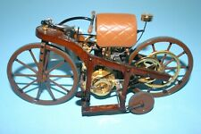 New ListingRare Franklin Mint 1885 Daimler Single Track Motorcycle Vehicle Wood Frame, Tag