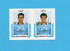 CALCIO 1988-EUROFLASH-Figurina n.342+344-GREGUCCI+PIN-LAZIO-NEW