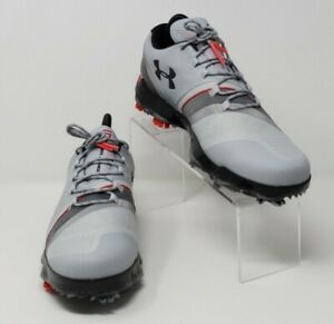 UNDER ARMOUR UA SPEITH 3 LE GOLF SHOES GRAY/BLACK/RED 3022369-106 MEN SZ 8.5 NEW