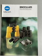 Minolta Binoculars, A4 Paper Brochure, 3 Page Pull Out, 1990