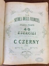 Antique Victorian Book of Sheet Music Carl Czerny Piano Forte