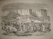 Abyssinia Ethiopia Dejatch Alamaeo son of King Theodore 1868 old print ref Z1
