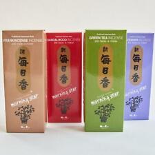Morning Star SANDALWOOD LAVENDER GREEN TEA FRANKINCENSE Total 800 Sticks Incense
