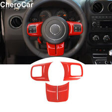 Red Steering Wheel Decoration Trim For Jeep Wrangler Jk Grand Cherokeecompass Fits 2012 Jeep Patriot