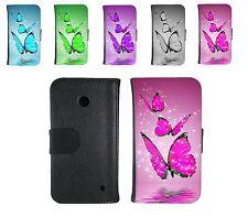 Book Tasche für Handy Design Hülle Case Cover Motiv butterfly Schmetterling