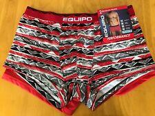 New set of 2 EQUIPO performance BRAZILIAN TRUNKS moisture wicking WHITE RED geo