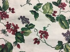 "GUC WAVERLY ""Orchard Trail"" Tuscan Grapes Valance(s) 76 in X 15 in Rod Pocket"
