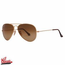 RAY-BAN AVIATOR SUNGLASSES RB8041 001/M2 Gold TITANIUM  Frame 58mm POLARIZED