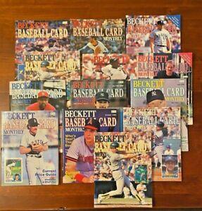 Beckett Magazine baseball card monthly ('85-'87) - lot of (13) Mantle, Jordan