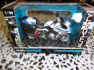 1/18 BMW MOTO FORCES DE L'ORDRE POLICE BMW R 1200 RT MAISTO39056