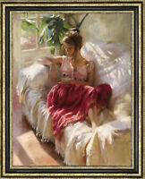 "Hand-painted Original Oil Painting art Impressionism girl on canvas 30""x40"""
