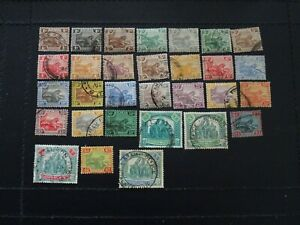 Malaysia Federated States Stamps SG 52/82 Ex 81/82 all GU issued 1922-34.