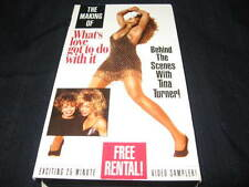 THE MAKING OF WHAT'S LOVE GOT TO DO W/ IT BEHIND THE SCENES WITH TINA TURNER VHS