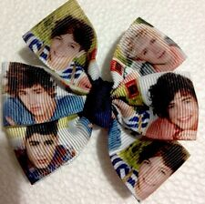 """New"" One Direction Ribbon  3 Inches Magic Hairbow (machine Washable) USA SELLER"
