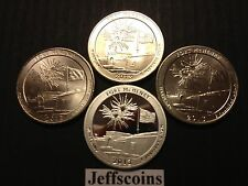 2013 P D S S Quarters Ft McHenry National Memorial MD & 90% Silver Proof 4 Coin