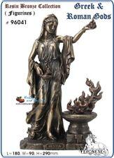 Hestia Greek Goddess of Domesticity.Veronese Bronzed Figurine / Statue. #6041