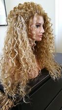 Beautiful Lace Front Wig Long Curly Heat Safe Blonde Mix- all colors