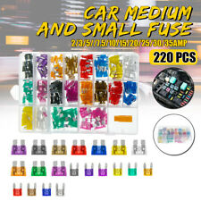 220Pcs Car Auto Assorted Mini & Standard Auto Blade Fuses ATM ATO Fuse Set