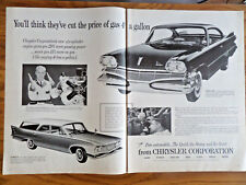 1960 Chrysler dodge Dart Plymouth Suburban Wagon Ad  New Six Cylinder Engine